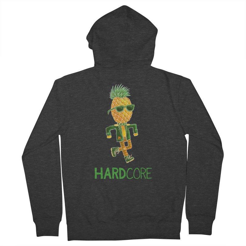Hardcore Men's Zip-Up Hoody by Lupi Art + Illustration