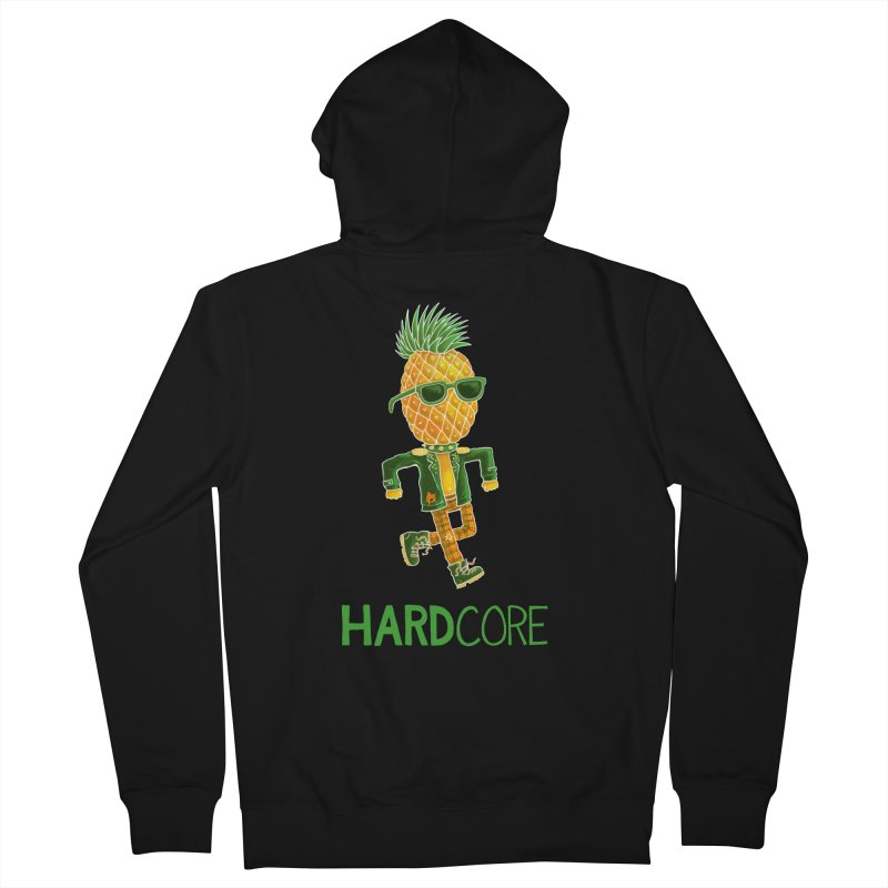 Hardcore Men's Zip-Up Hoody by Lupi Art + Illustration