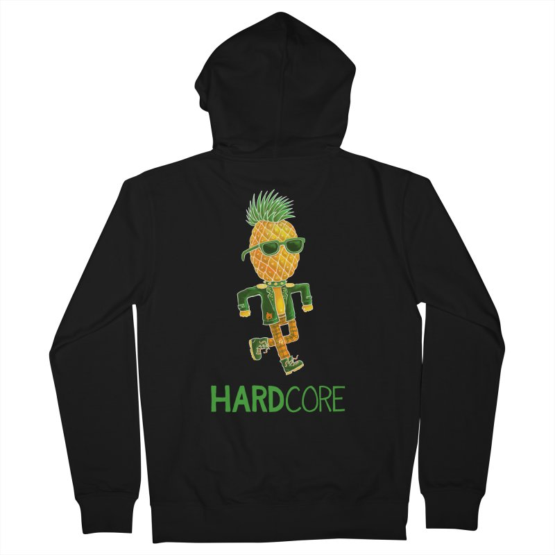 Hardcore Men's French Terry Zip-Up Hoody by Lupi Art + Illustration