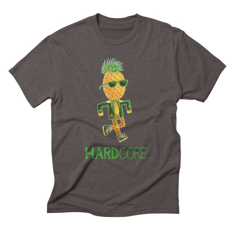 Hardcore Men's Triblend T-Shirt by Lupi Art + Illustration
