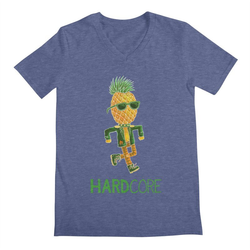 Hardcore Men's Regular V-Neck by Lupi Art + Illustration