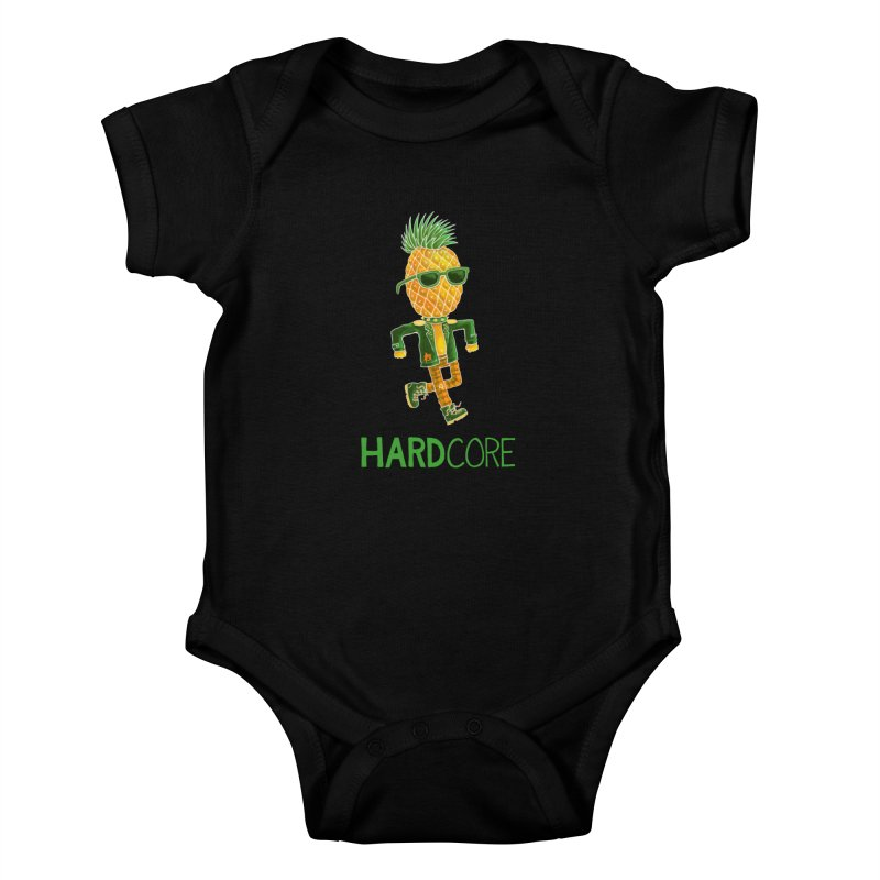 Hardcore Kids Baby Bodysuit by Lupi Art + Illustration
