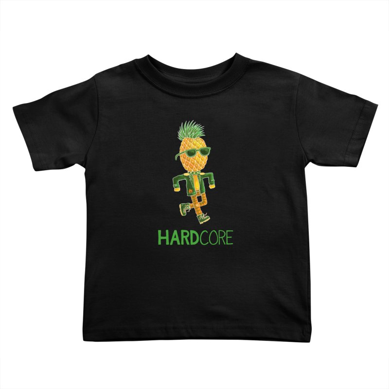 Hardcore Kids Toddler T-Shirt by Lupi Art + Illustration