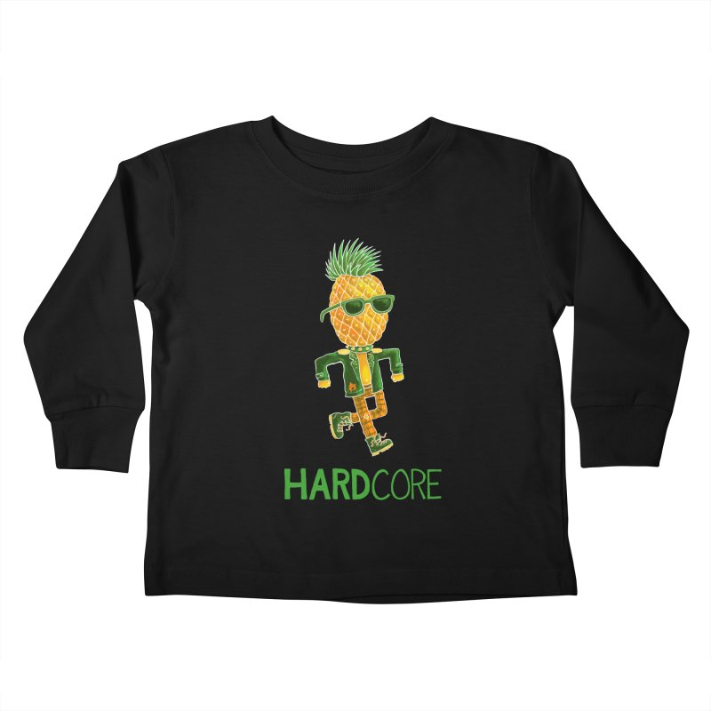Hardcore Kids Toddler Longsleeve T-Shirt by Lupi Art + Illustration