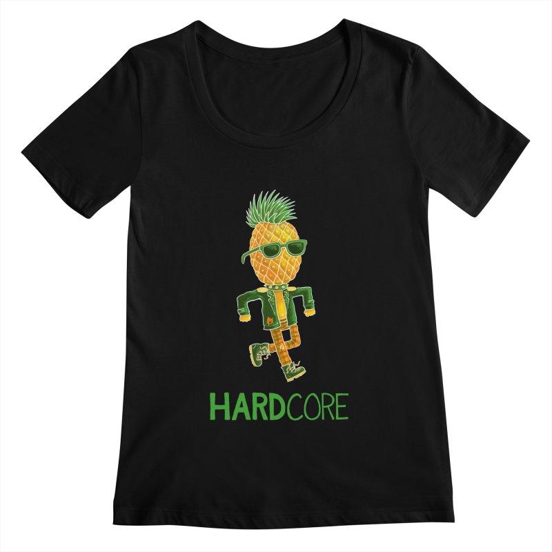 Hardcore Women's Scoopneck by Lupi Art + Illustration