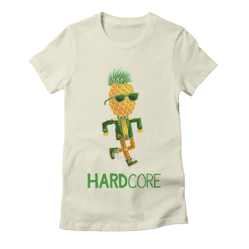 Hardcore in Women's Fitted T-Shirt Natural by Lupi Art + Illustration