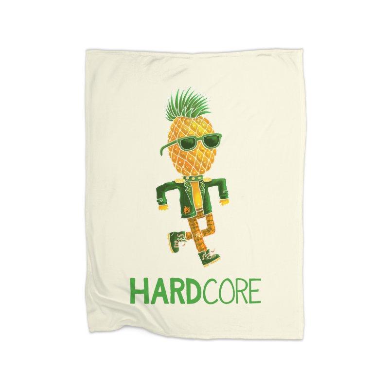 Hardcore Home Blanket by Lupi Art + Illustration