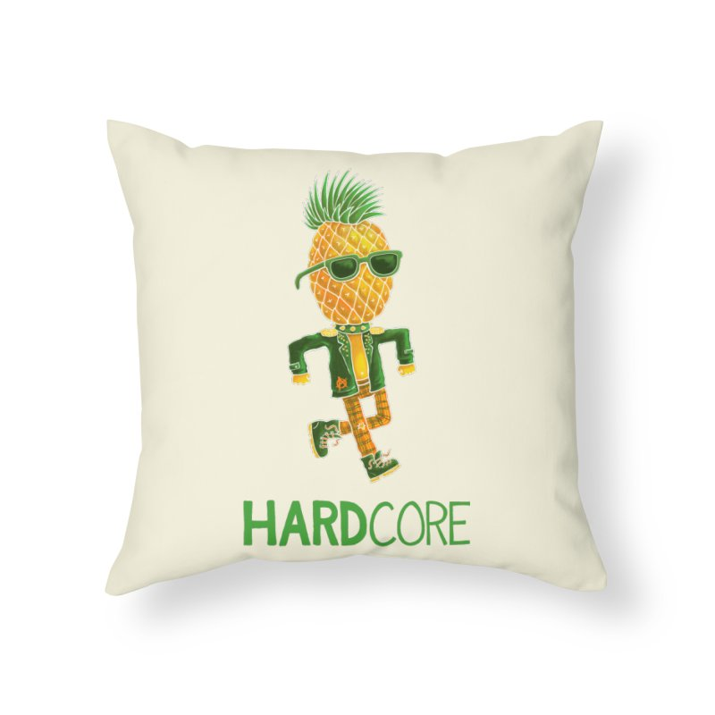 Hardcore Home Throw Pillow by Lupi Art + Illustration