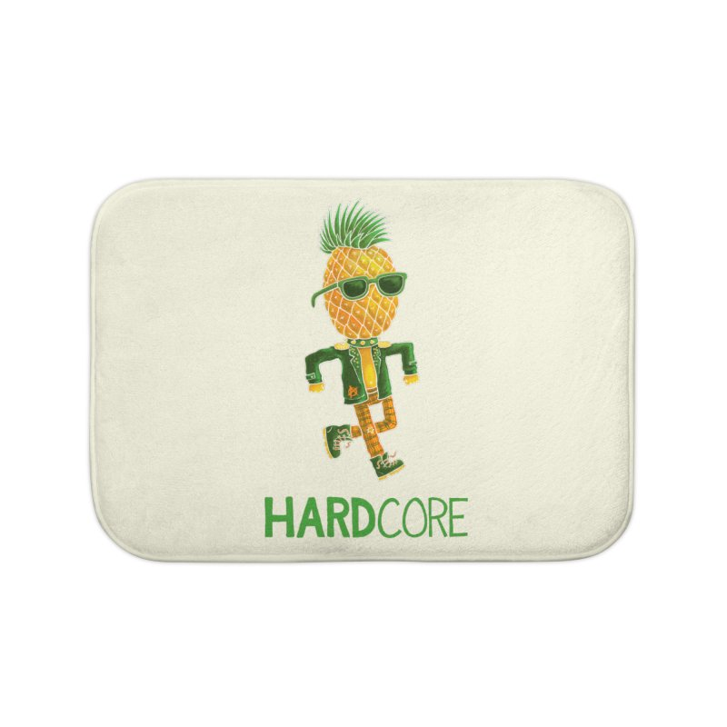 Hardcore Home Bath Mat by Lupi Art + Illustration