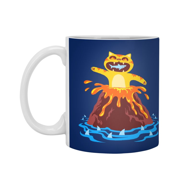 Volcano Cat Accessories Standard Mug by Lupi Art + Illustration