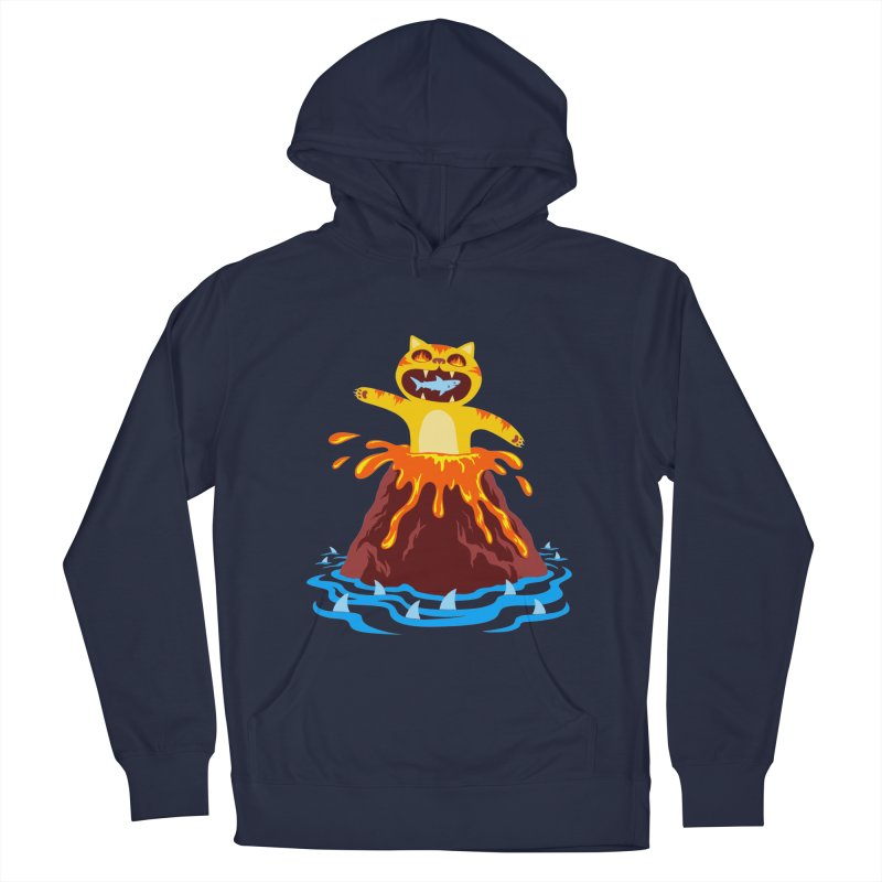 Volcano Cat Men's Pullover Hoody by Lupi Art + Illustration