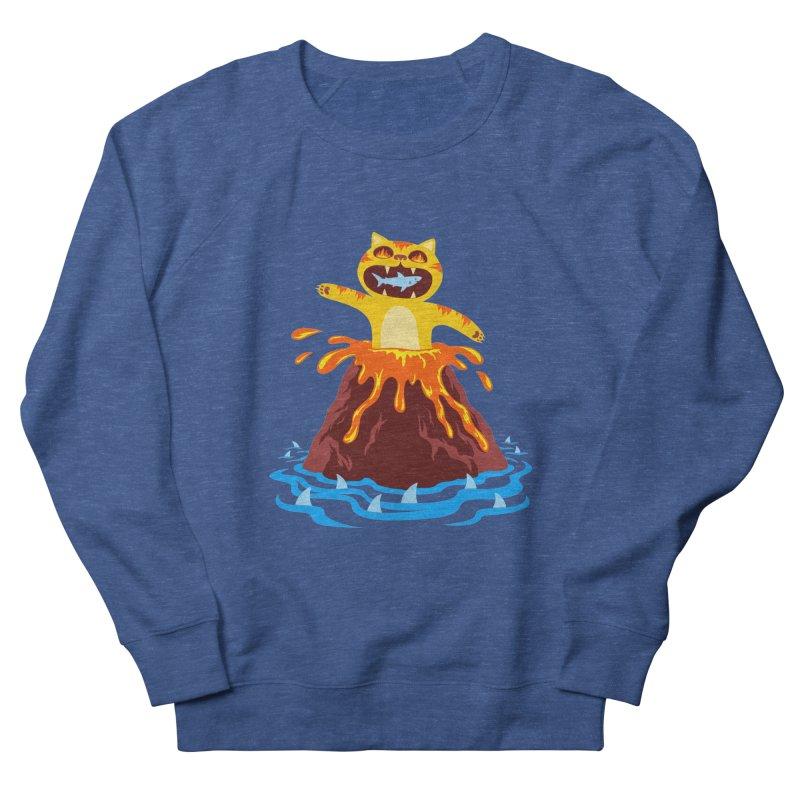 Volcano Cat Women's Sweatshirt by Lupi Art + Illustration