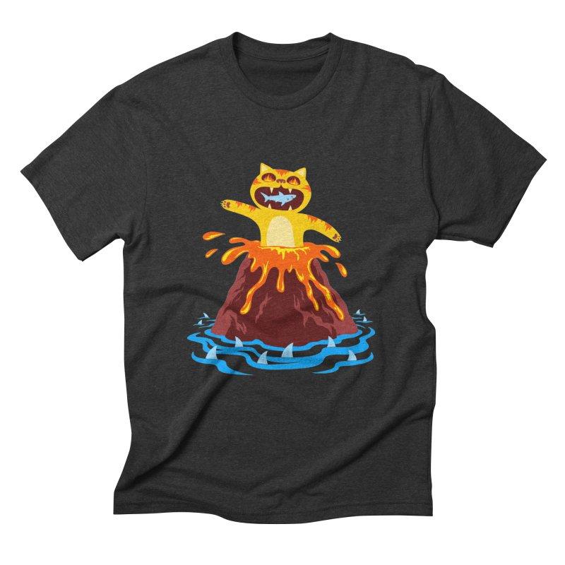 Volcano Cat Men's T-Shirt by Lupi Art + Illustration