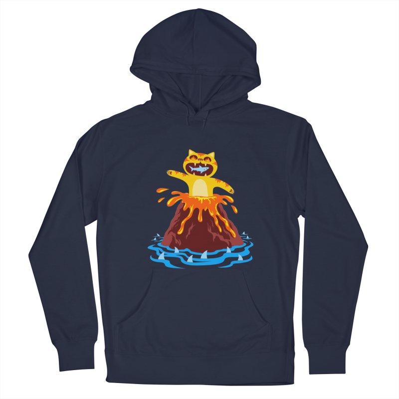 Volcano Cat Men's Pullover Hoody by Lupi Art + Illustration