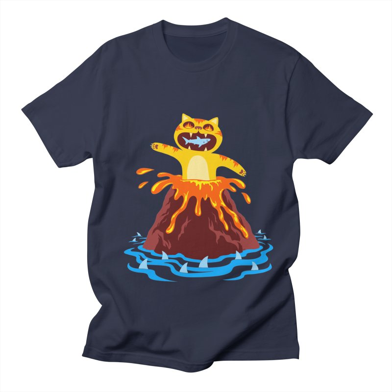 Volcano Cat Men's Regular T-Shirt by Lupi Art + Illustration