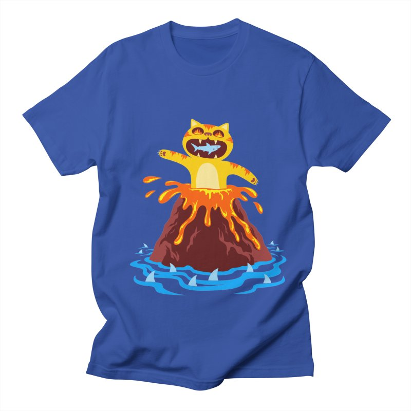Volcano Cat Men's T-Shirt by Lupi Art + Illustration