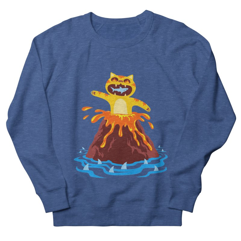 Volcano Cat Women's French Terry Sweatshirt by Lupi Art + Illustration