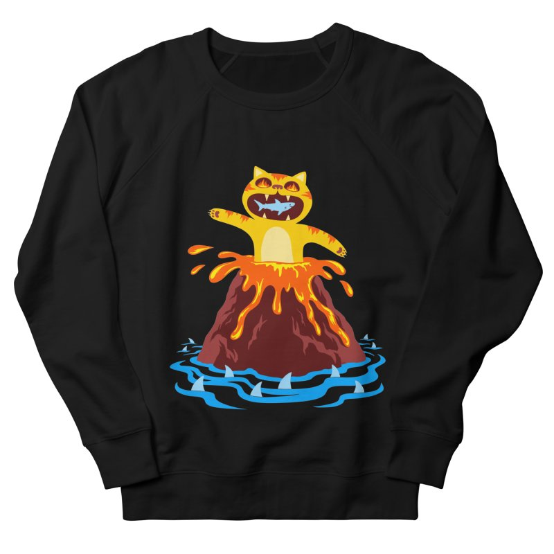 Volcano Cat Men's Sweatshirt by Lupi Art + Illustration