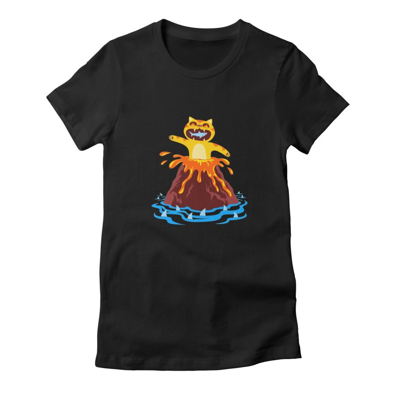 Volcano Cat Women's T-Shirt by Lupi Art + Illustration