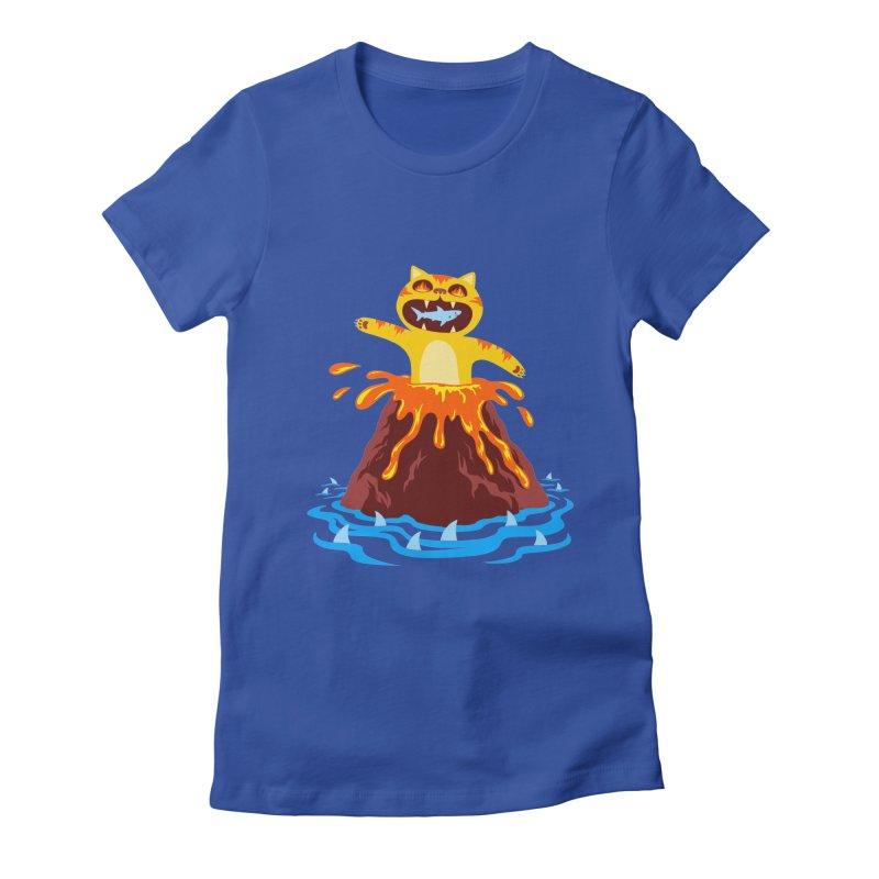 Volcano Cat Women's T-Shirt by Lupi Art + Illustration