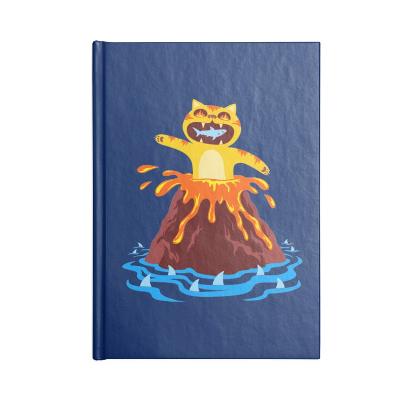 Volcano Cat Accessories Notebook by Lupi Art + Illustration