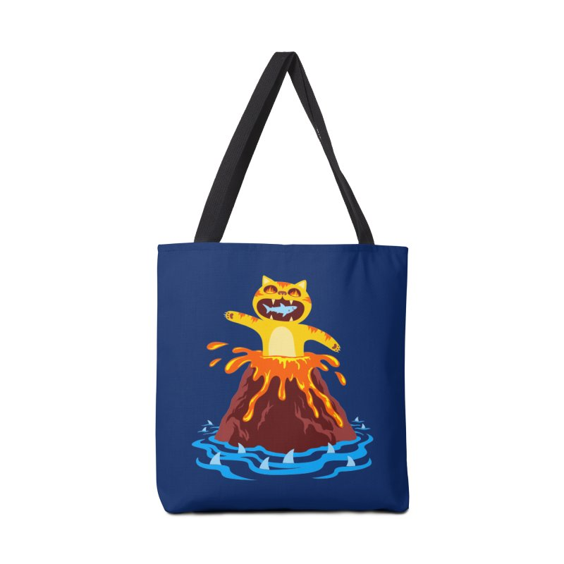 Volcano Cat Accessories Tote Bag Bag by Lupi Art + Illustration
