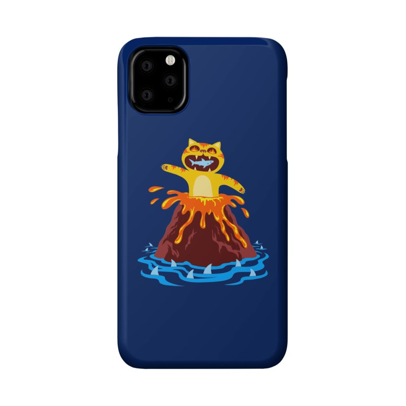 Volcano Cat Accessories Phone Case by Lupi Art + Illustration