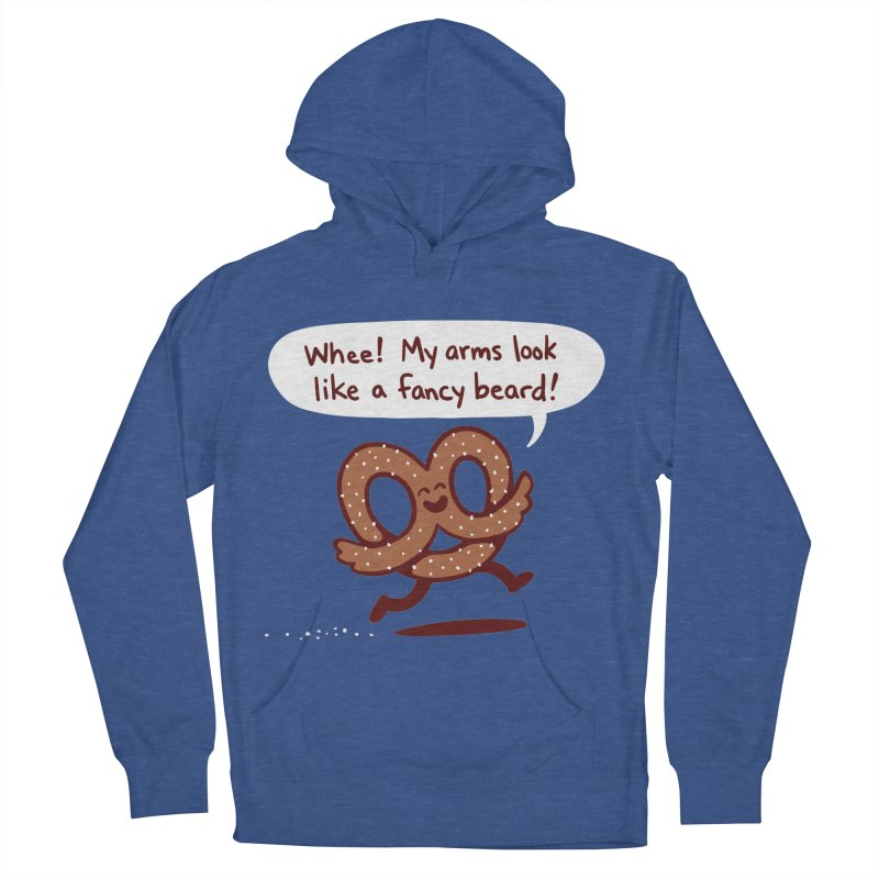 Pretzel Pat Women's French Terry Pullover Hoody by Lupi Art + Illustration