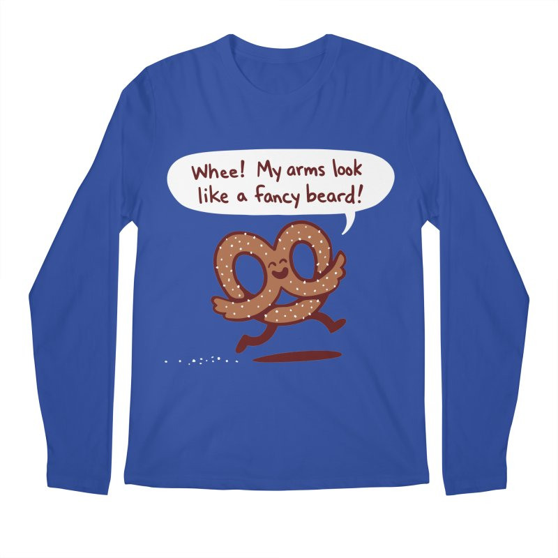 Pretzel Pat Men's Longsleeve T-Shirt by Lupi Art + Illustration