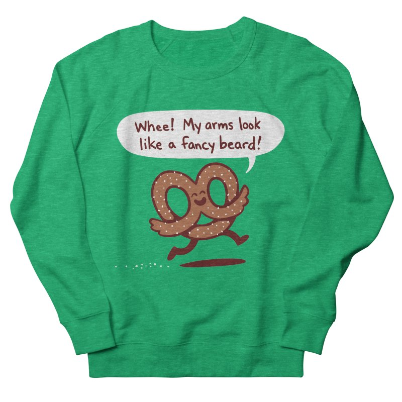 Pretzel Pat Men's French Terry Sweatshirt by Lupi Art + Illustration