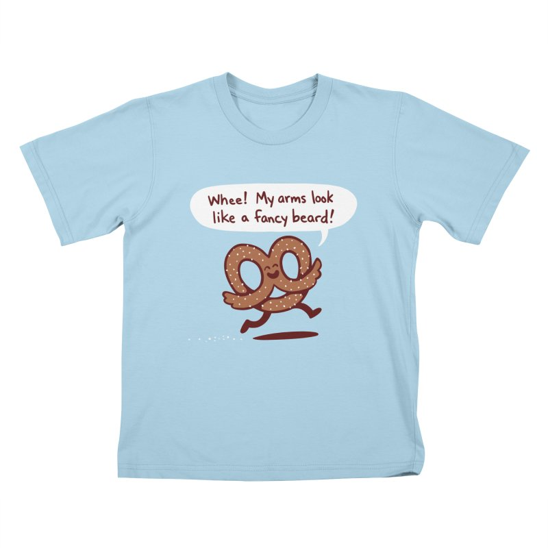 Pretzel Pat Kids T-Shirt by Lupi Art + Illustration