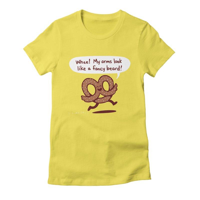 Pretzel Pat Women's Fitted T-Shirt by Lupi Art + Illustration