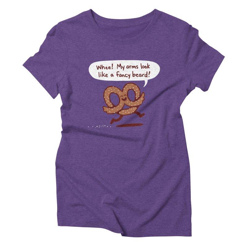 Pretzel Pat Women's Triblend T-shirt by Lupi Art + Illustration