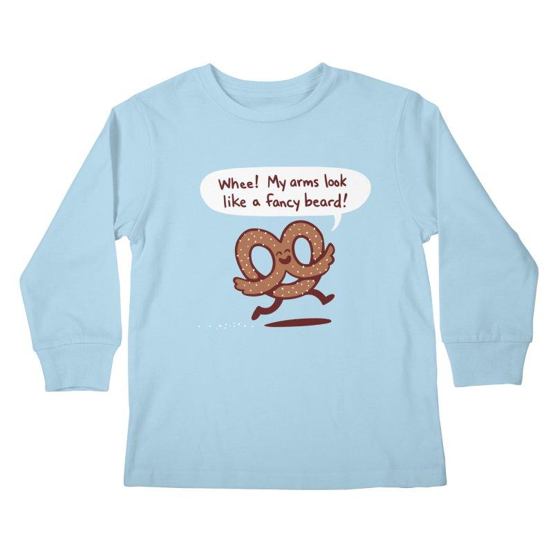 Pretzel Pat Kids Longsleeve T-Shirt by Lupi Art + Illustration