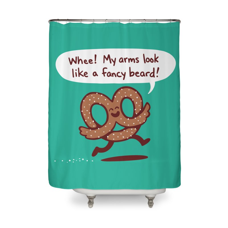 Pretzel Pat Home Shower Curtain by Lupi Art + Illustration