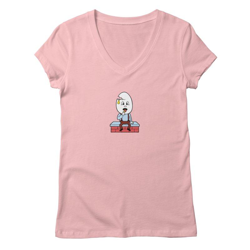Zombie Dumpty Women's V-Neck by Lupi Art + Illustration