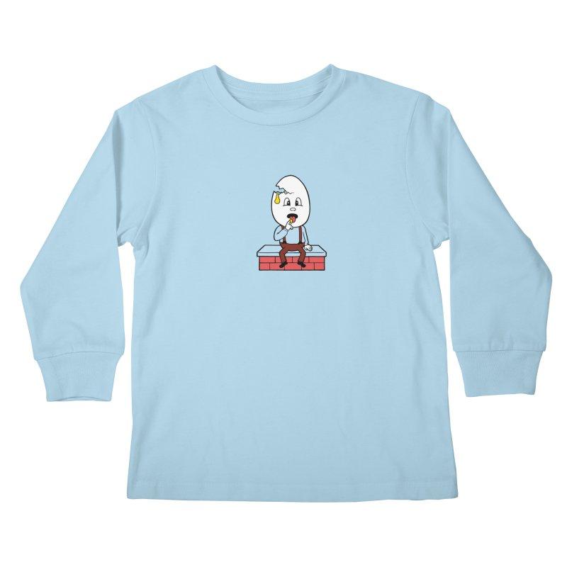 Zombie Dumpty Kids Longsleeve T-Shirt by Lupi Art + Illustration