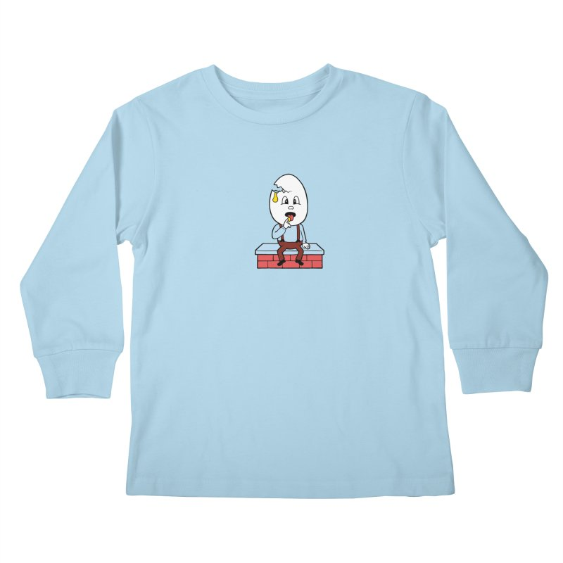 Zombie Dumpty Kids Longsleeve T-Shirt by Lupi Art + Illustration