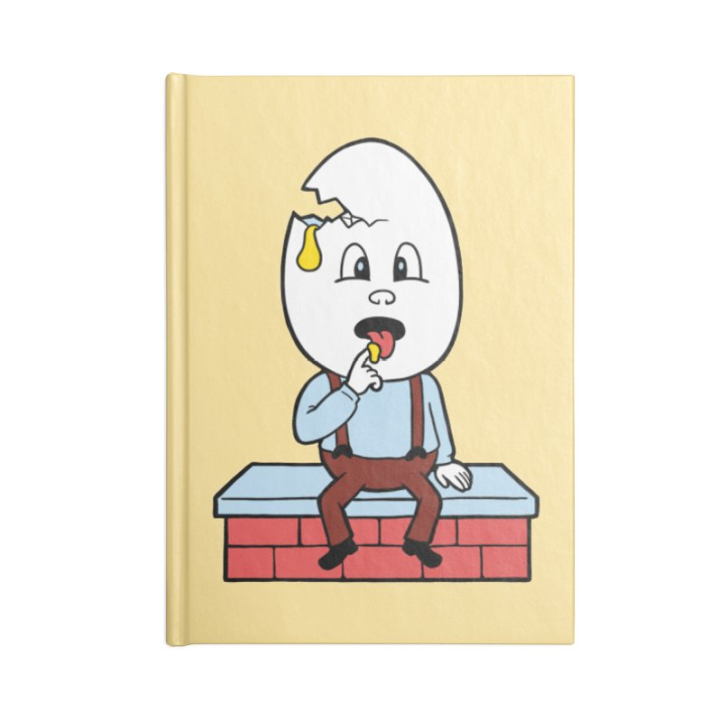 Zombie Dumpty Accessories Lined Journal Notebook by Lupi Art + Illustration