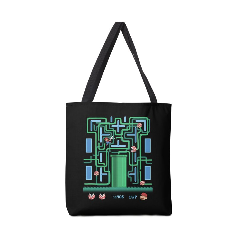 Pac-Mario Accessories Bag by Lupi Art + Illustration