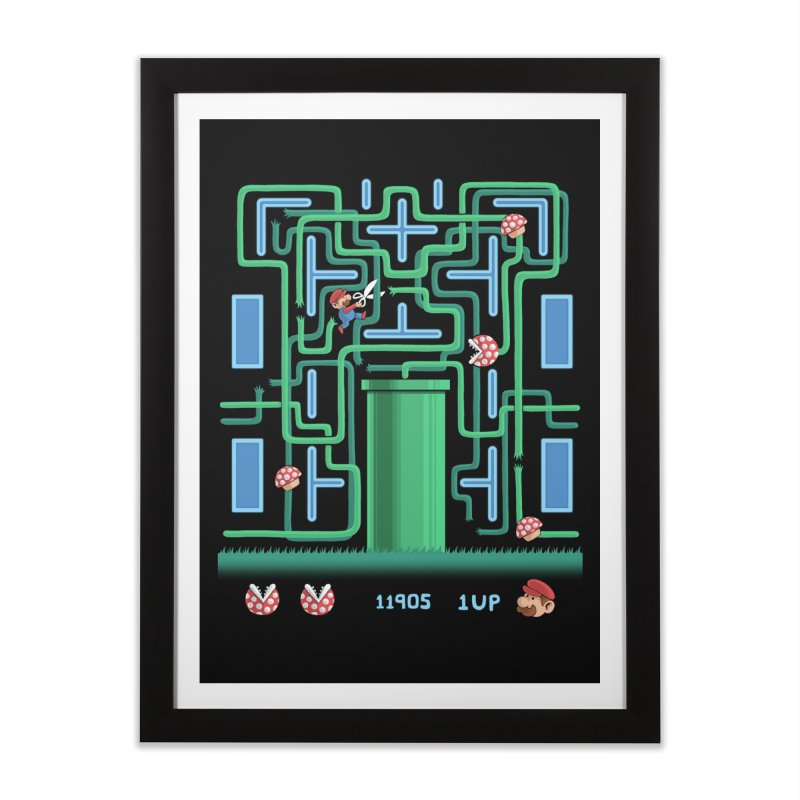 Pac-Mario Home Framed Fine Art Print by Lupi Art + Illustration