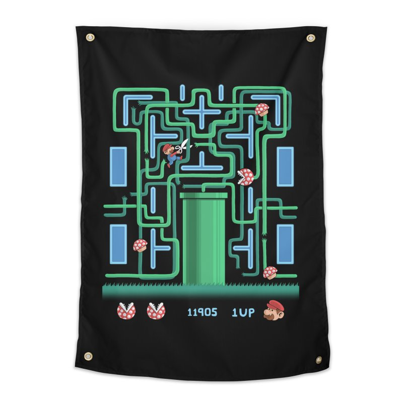Pac-Mario Home Tapestry by Lupi Art + Illustration