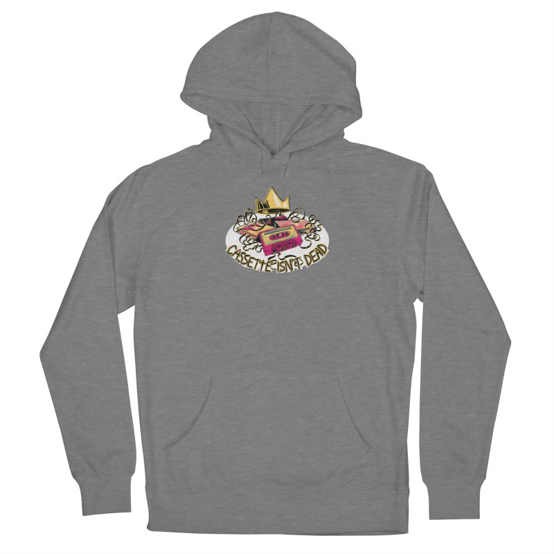 Cassette isn't Dead Fitted Pullover Hoody by Lupi Art + Illustration