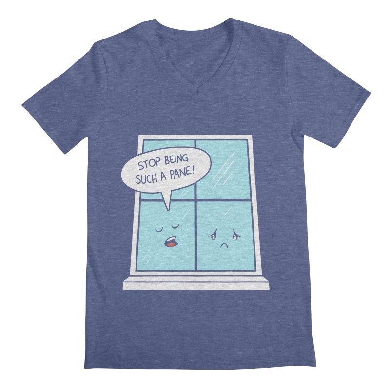 A Pane in the Glass Men's V-Neck by Lupi Art + Illustration