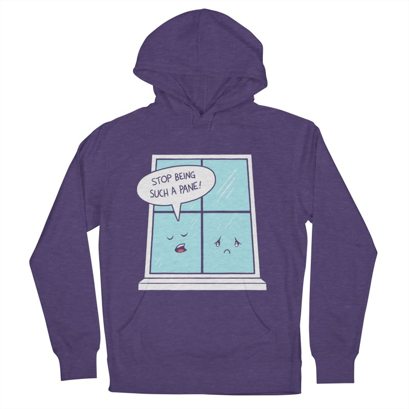 A Pane in the Glass Men's French Terry Pullover Hoody by Lupi Art + Illustration