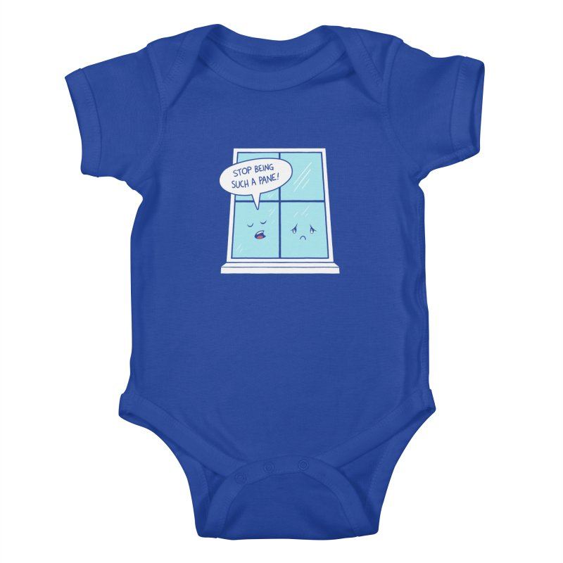 A Pane in the Glass Kids Baby Bodysuit by Lupi Art + Illustration