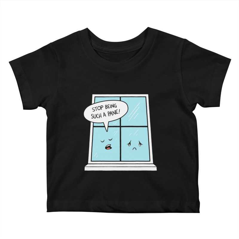 A Pane in the Glass Kids Baby T-Shirt by Lupi Art + Illustration