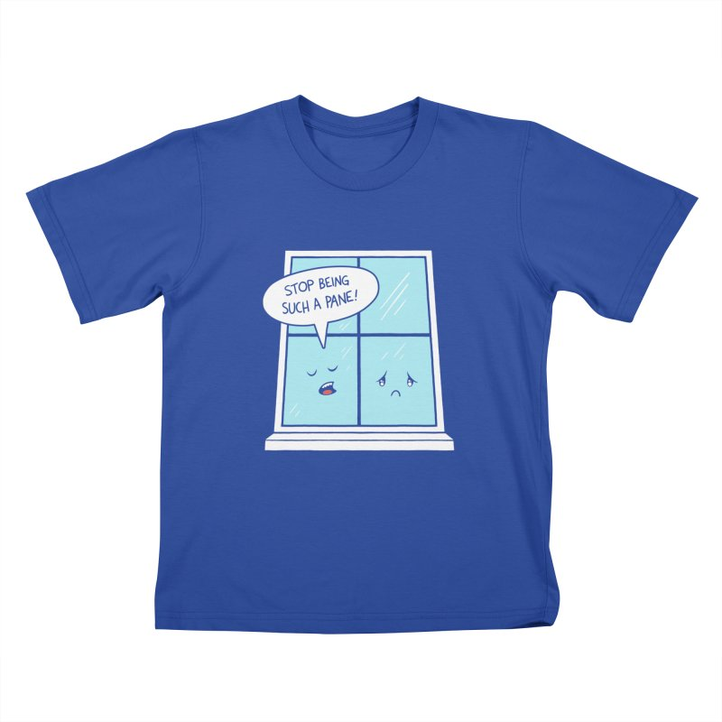 A Pane in the Glass Kids T-Shirt by Lupi Art + Illustration