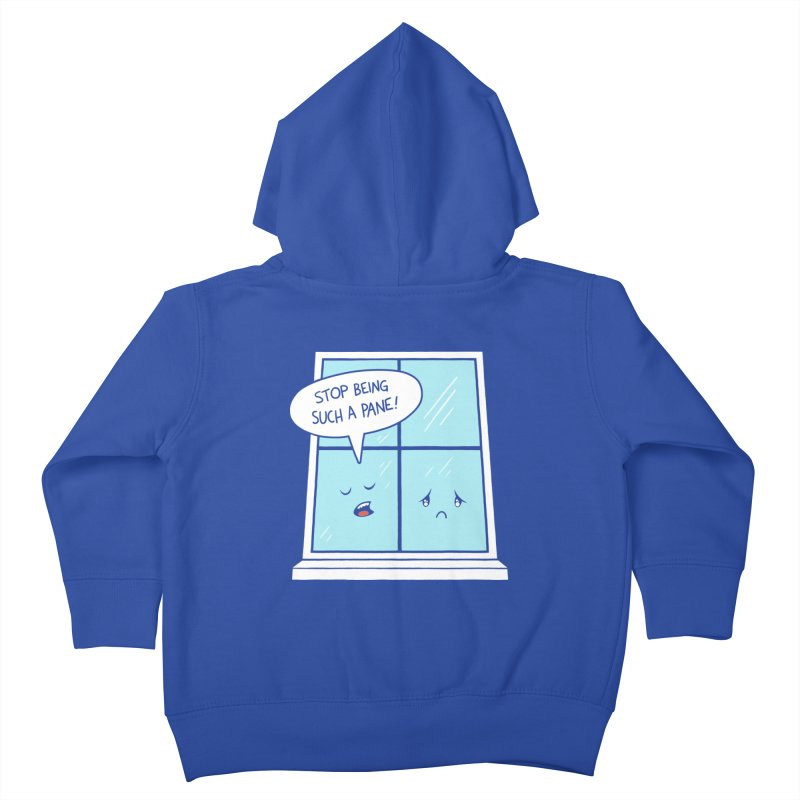A Pane in the Glass Kids Toddler Zip-Up Hoody by Lupi Art + Illustration