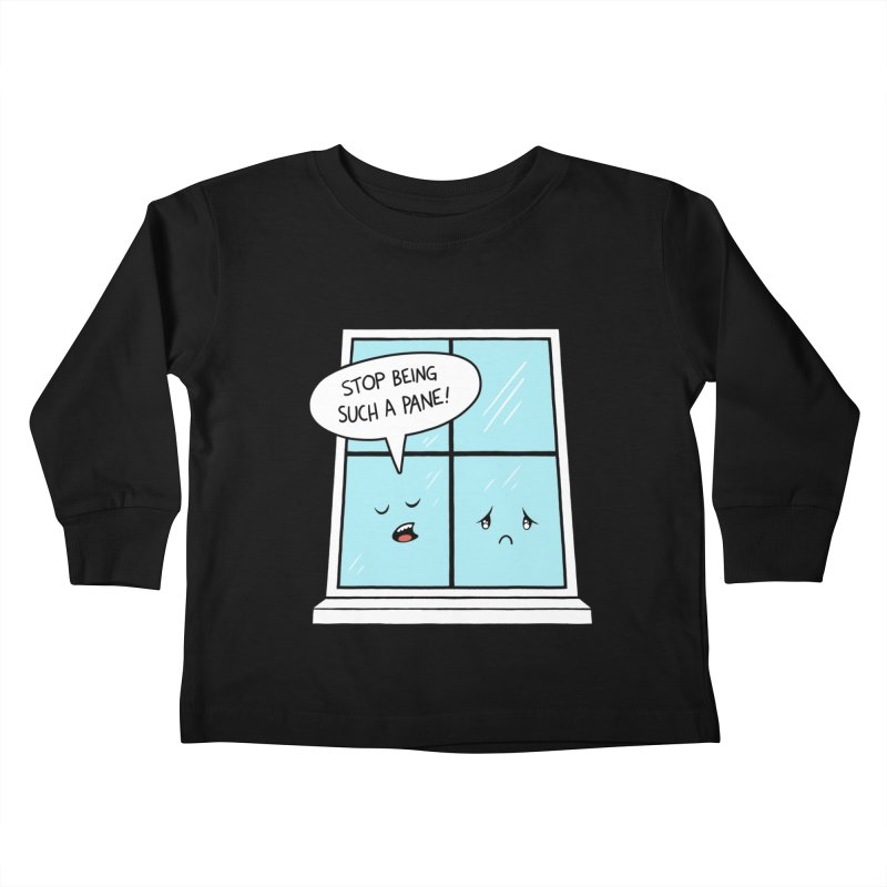 A Pane in the Glass Kids Toddler Longsleeve T-Shirt by Lupi Art + Illustration